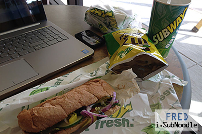 Some Start with Coffee I Start with Subway