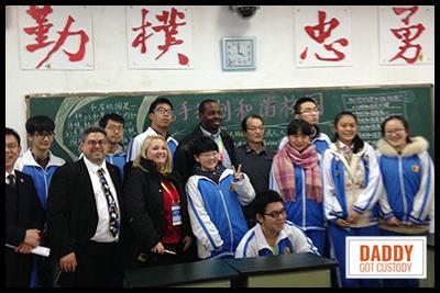 Fred visits China classrooms.