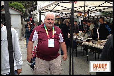 Tony shopping in China's Open market.