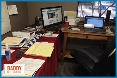 Fred's Slob Space at his Work Office