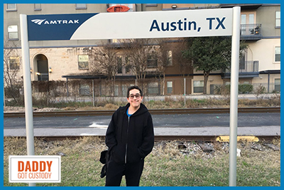 Austin Amtrak Station from https://DaddyGotCustody.com